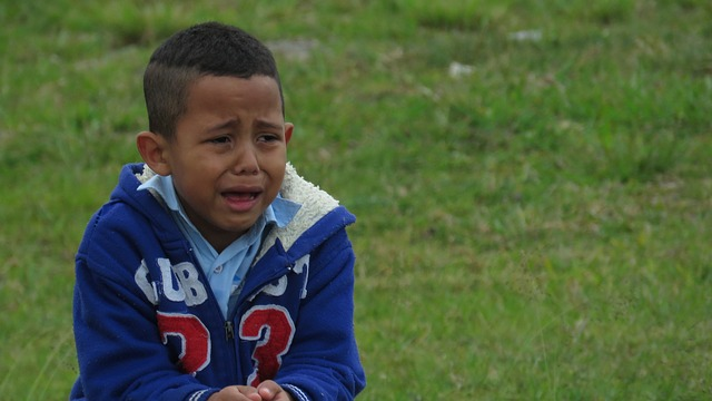 image of lost child crying