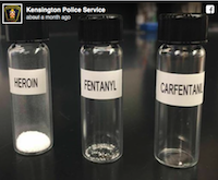 Fentanyl, Carfentanil, and Heroin Vials